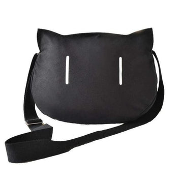 Modakawa Tote Cute Black Cat Shoulder Bag