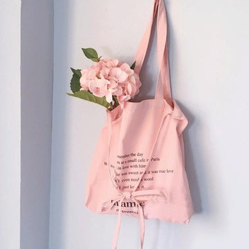 Modakawa Tote Pink Bow Shoulder Bag