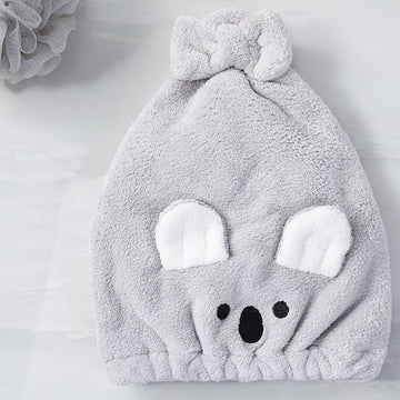 Modakawa Towels Gray / 35 x 26 cm Koala Bow Hair Drying Towels Cap