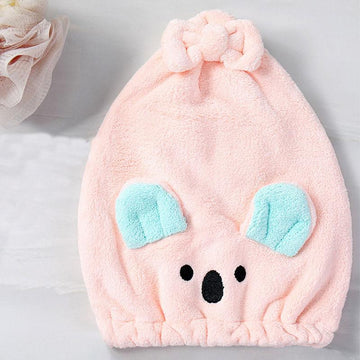 Modakawa Towels Pink / 35 x 26 cm Koala Bow Hair Drying Towels Cap