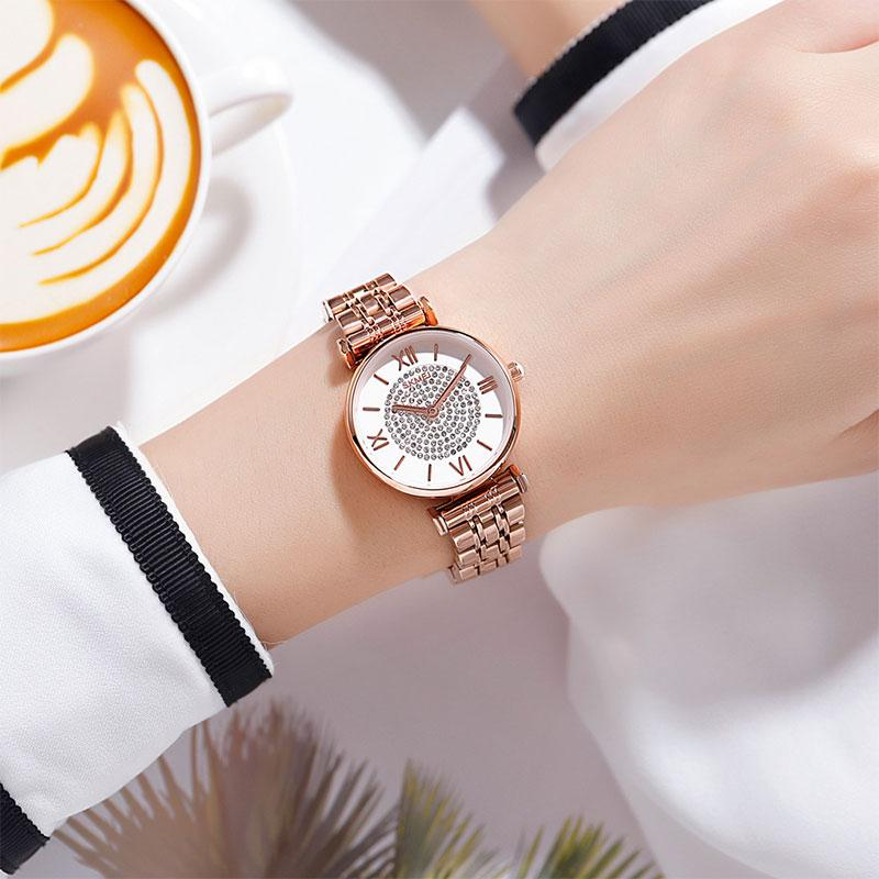 Modakawa Watch Elegant Rhinestone Quartz Watch 1533