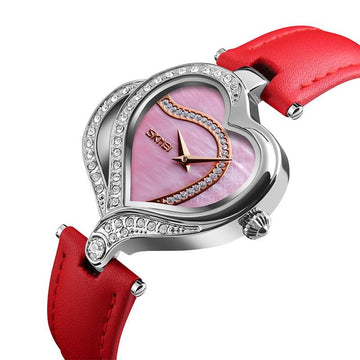 Modakawa Watch Love Heart Rhinestone Quartz Watch 9161