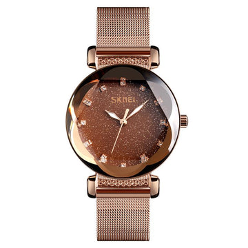 Modakawa Watch Rose Gold Steel Starry Sky Quartz Watch 9188