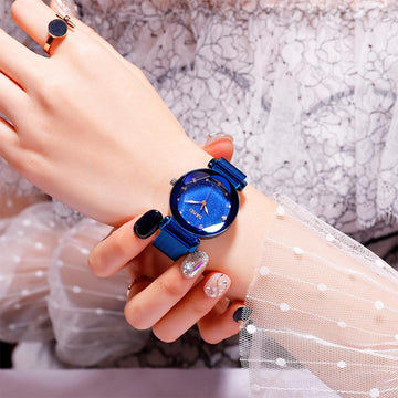 Modakawa Watch Starry Sky Quartz Watch 9188