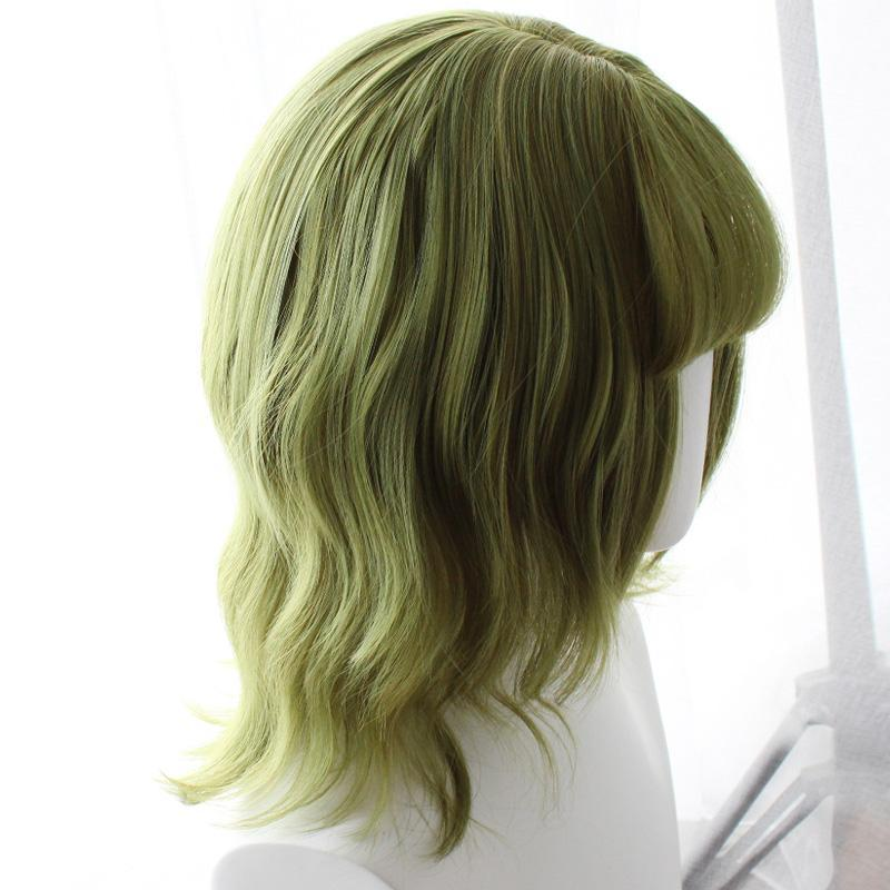 Modakawa Wig Green / One Size Cool Short Curly Green Hair Wig