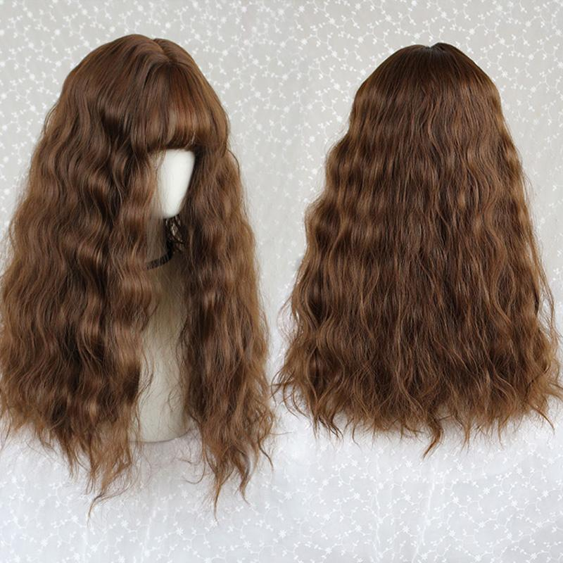Modakawa Wig Light Brown Vintage Wool Long Curly Wig
