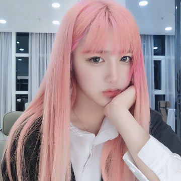 Modakawa Wig Light Pink Long-Hair Wig