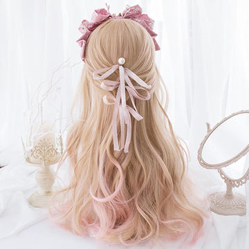 Modakawa Wig Lolita Gradient Color Long Curly Wig