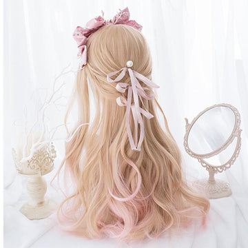 Lolita Gradient Color Long Curly Wig