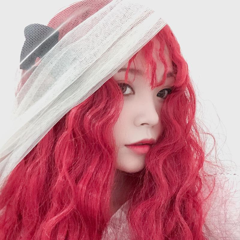 Modakawa Wig Long Wavy Wig Party Halloween Costume Cosplay Witch Red
