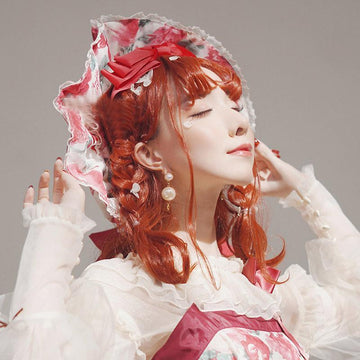 Modakawa Wig Red / One Size Halloween Red Curly Hair Cosplay Wig