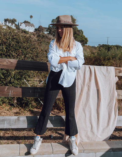 MADISON FLARE PANT IN NAVY