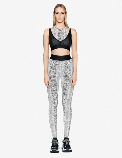 SNAKE PRINT LEGGING IN WHITE SNAKE