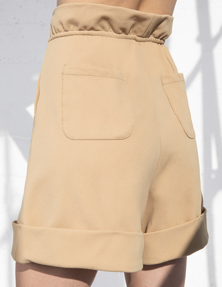 VENICE PAPERBAG SHORTS IN SAND