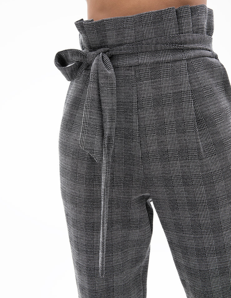 PLAID PAPER BAG PANT