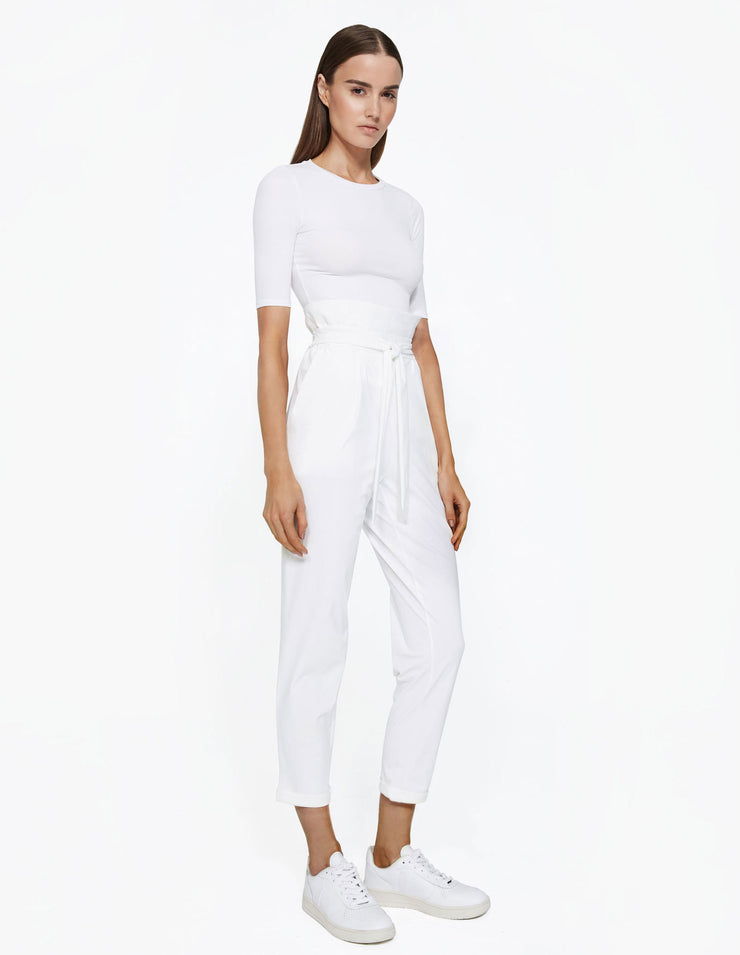 PAPER BAG PANT IN WHITE