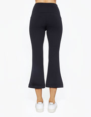 KICK FLARE PANTS IN BLACK