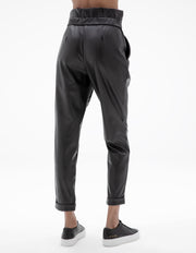 VEGAN LEATHER PANT IN BLACK