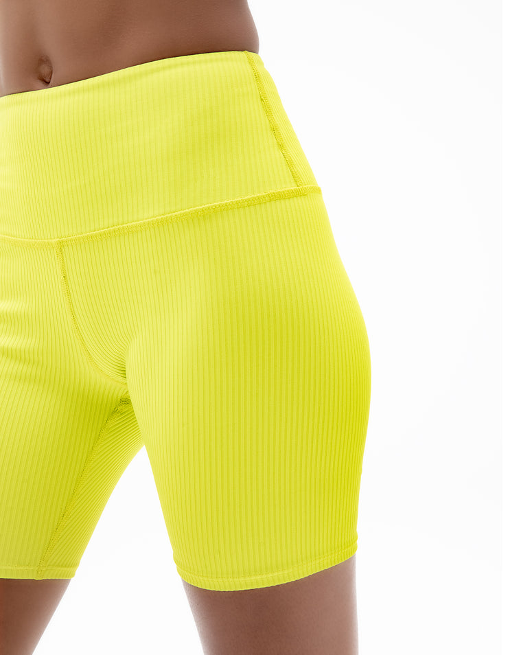 BIKER SHORTS IN LIME