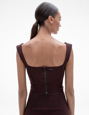 MADISON BUSTIER TOP IN WINE