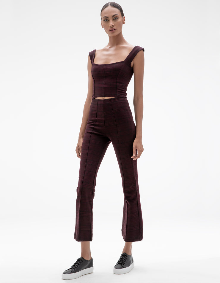 MADISON FLARE PANT IN WINE