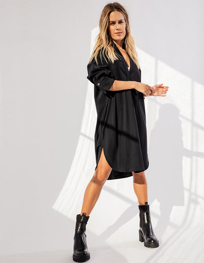 SAG HARBOR DRESS IN BLACK