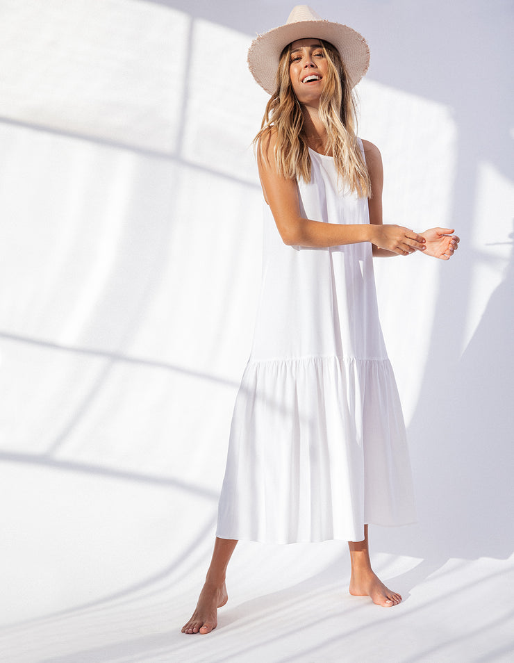 LIVINGSTON DRESS IN WHITE