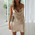 Gift Day Solid Color Sling Mini Dress