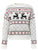 O-neck Deer Printed Knitted Christmas Sweaters - White