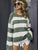 Striped knitted sweater women O