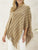 Tassel stripe knitted cloak sweater