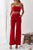 Gift Day Sexy Off Shoulder Plain Slim Midriff Baring Jumpsuit