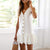 Gift Day V-Neck Button Ruffled Mini Dress