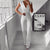 Gift Day Sexy V Neck Sleeveless Pure Colour Jumpsuit