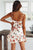 Gift Day Backless Bowknot  Floral Printed Sleeveless Bodycon Dress