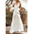 Gift Day White Sexy Sleeveless Vacation Dress