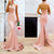 Gift Day Pink Halter Neck Wedding Evening Dress