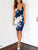 Gift Day Spaghetti Strap Floral Bodycon Dress