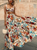 Gift Day Sexy Off Shoulder Midriff-Baring Floral Printed Beach Maxi Dress