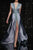 Gift Day Sexy Fashion Deep V Collar Sleeveless Sequin Fork Evening Dress