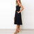 Gift Day Fashion U-Neck Sling With Solid Color Waist Midi Dress