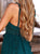 Gift Day V Neck Bare Back Hollow Out Splicing Midi Dresses