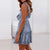 Gift Day Temperament Ruffled Tie With Cutout Waist Mini Dress
