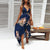 Gift Day Sleeveless Halter Sling V-Neck High Waist Loose Vacation Dress
