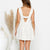 Gift Day Sleeveless Solid Color Cotton And Linen Casual Mini Dress