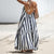 Gift Day New Loose Hanging Neck Striped  Maxi Dresses