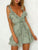 Gift Day Layered Ruffled V-Neck Tie Waist Mini Dress