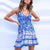 Gift Day Bohemian Print Casual Vacation Sling Mini Dress