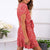 Gift Day Fashion Deep V-Neck Tie With Ruffled Dress
