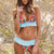 Gift Day Fashion Printed Falbala Wrinkle Bikini Split Bathing Suit
